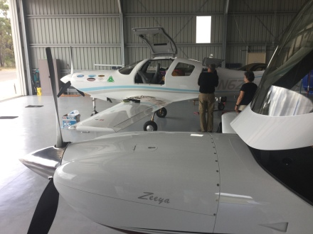 Two Legacy's and Bill and Sue's Lancair IV at Wedderburn.