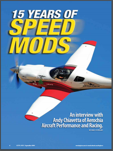 The latest Kitplanes magazine runs a good article on Aerochia and the Reno races.