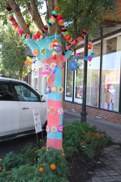 "The streets of Fairhope were decorated with ""Yarn Bombing"""